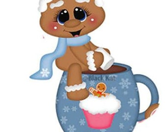 Gingerbread, Hot chocolate, Marshmallows & Cupcake Cup  Metal Die Cutter (GB 95)