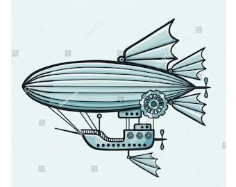 Steampunk Airship Metal  Die Cutter
