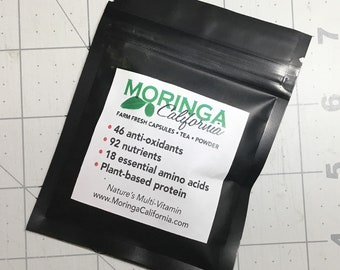 Moringa Oleifera Powder from California (Sample Size)