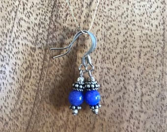 Natural Stone Earrings with Sterling Accents