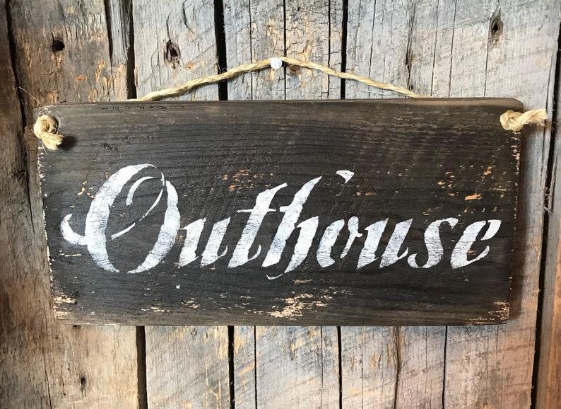 Outhouse Sign Bathroom Wall Decor Outhouse Bathroom Barn Etsy