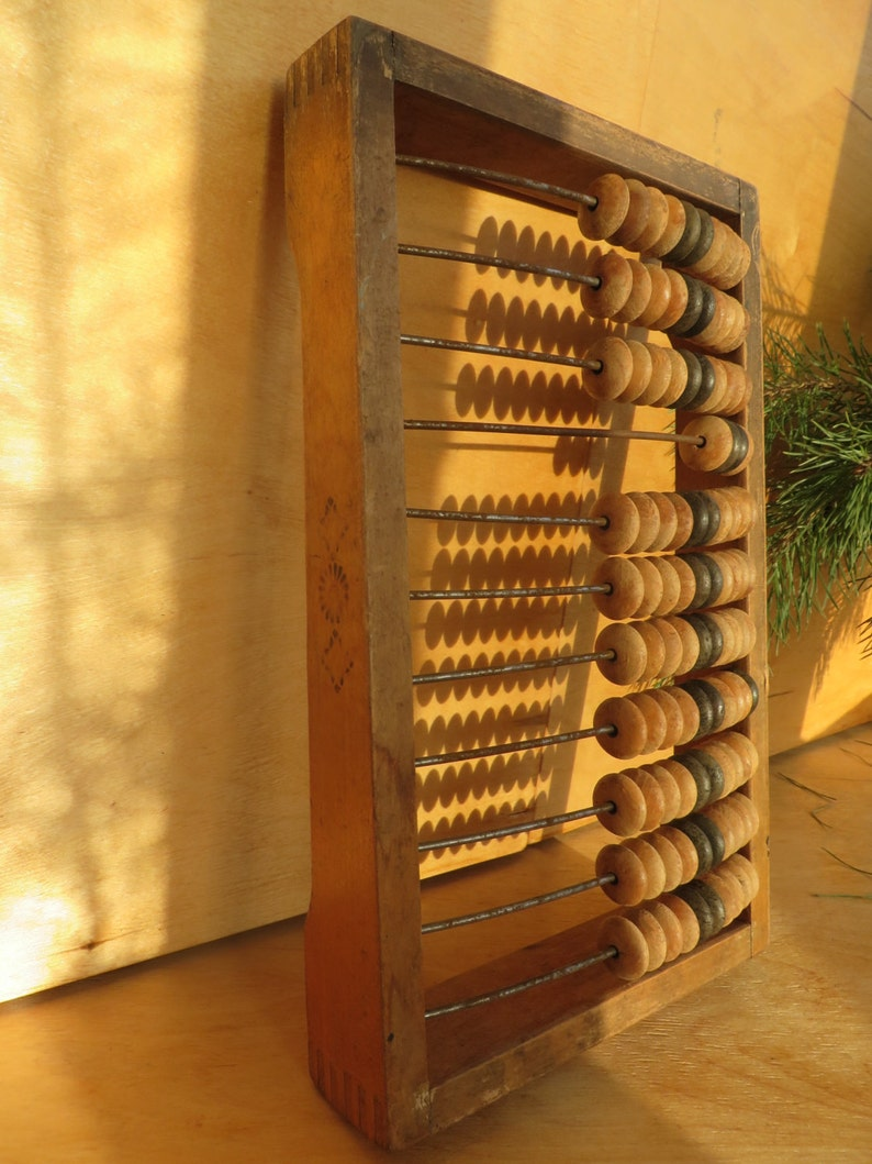 Russian Home Decor Wooden Abacus Rare Soviet Wood USSR