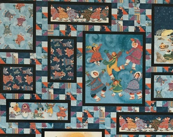 Winter quilt pattern etsy snow much fun quilt pattern by patti carey lap double or queen size quilt panel quilt fandeluxe Image collections