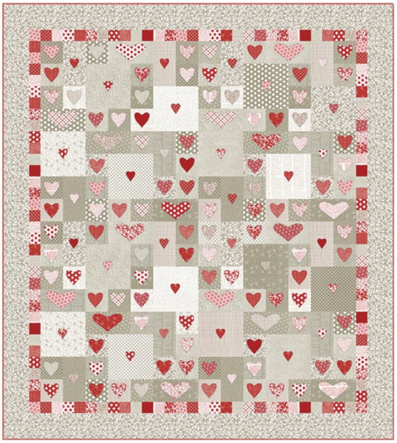 Follow Your Heart Quilt Pattern Designed By Sweetwater Etsy Mesmerizing Heart Quilt Pattern