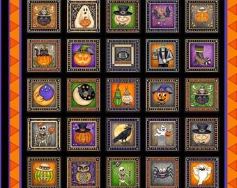 "Halloween - Panel - Quilting Treasures - Creepy Hollow - 24"" x 44"""