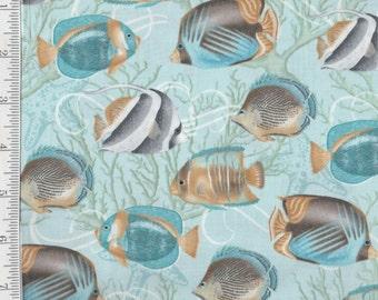 Seaside Dreams - Per Yd - Sharla Fults - Studio e - Tropical Fish