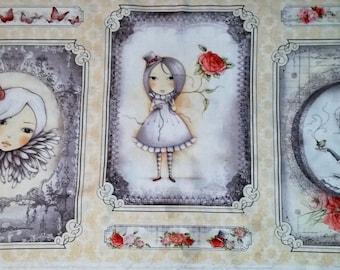 La Vie en Rose - Panel - Quilting  Treasures - Santoro - Simply Gorgeous!