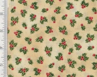 Sounds of the Season - Per Yd - Quilting Treasures - Holly on Crm