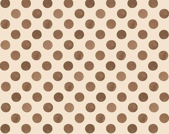 Flannel Per Yd - Romantic Afternoon - Wilmington Prints by Lisa Audit - Brown Dots on Crm