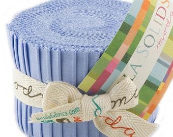 """Bella Solids - Jr Jelly Roll - Moda - (20) 2.5"""" Strips - Baby Blue # 32"""