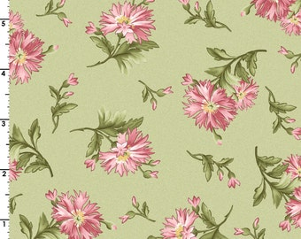 Graceful Moments - Per Yard-  Maywood Studio - Floral on green - Love This!