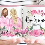 Bridesmaid Proposal Gift, Bridesmaid Portrait Mug, Gift for Maid Of Honor, Bridal Party Gift, Bridesmaid Box, Bridesmaid Bag