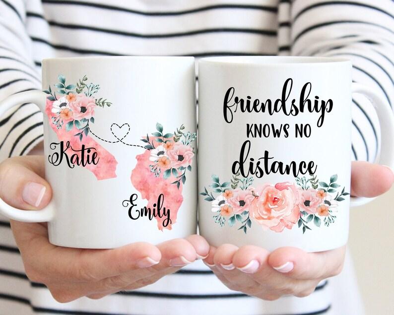 Friendship Knows No Distance Coffee Mug Custom Sister Moving image 0