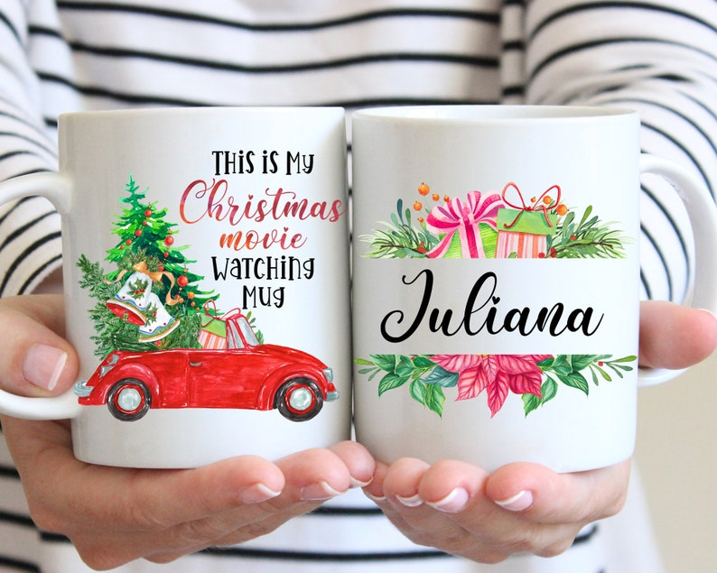 This Is My Christmas Movie Watching Mug Christmas Mug Holiday image 0