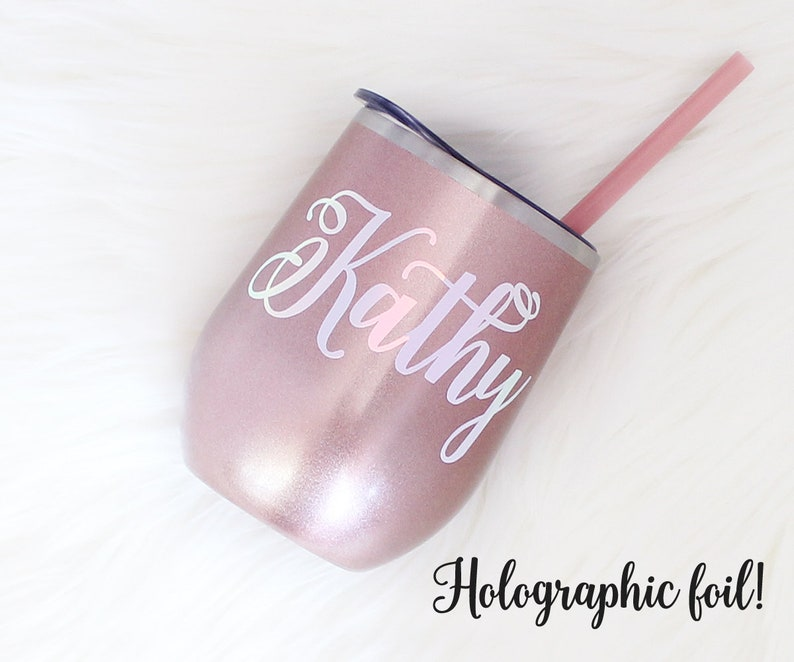 888bfdc857 Rose Gold Wine Tumbler Bridesmaid Gift Stainless Steel