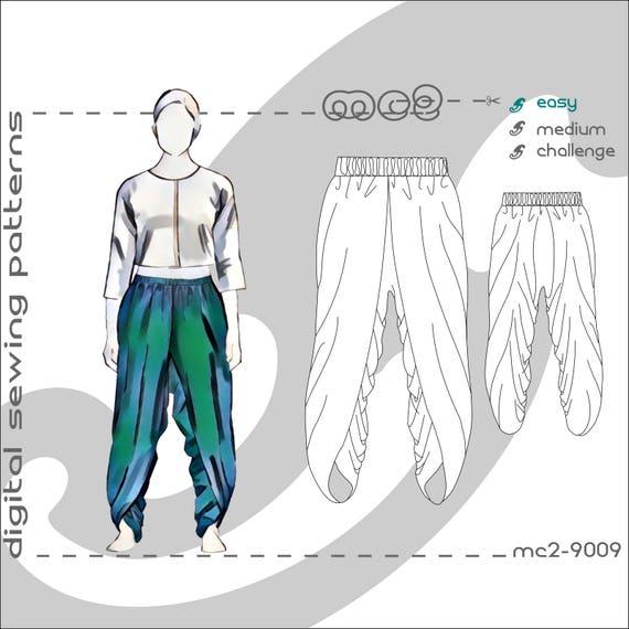 Dhoti Harem Easy To Make Pants Salwar With Wraps Sizes Etsy