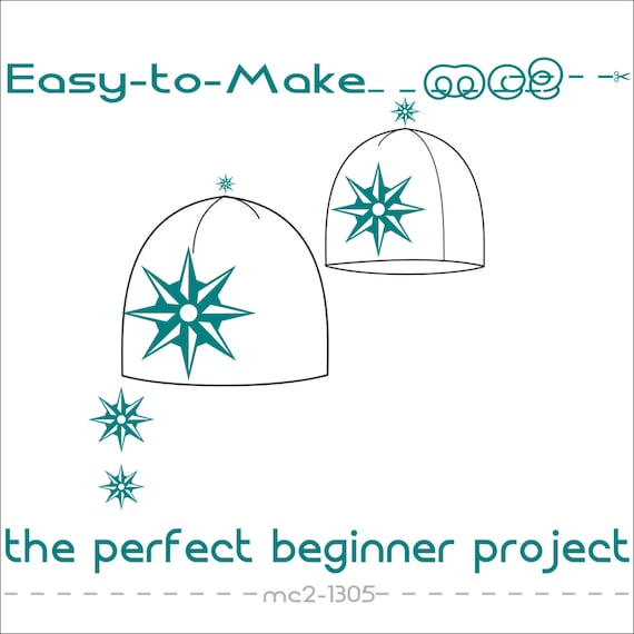 Slouchy Beanie Hat Easy-to-Make/ Digital PDF Sewing Patterns/ | Etsy
