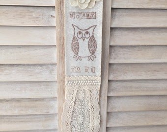 Rustic Mommy to Be Owl Baby Boy or Girl Shower Handmade Burlap and Lace Corsage