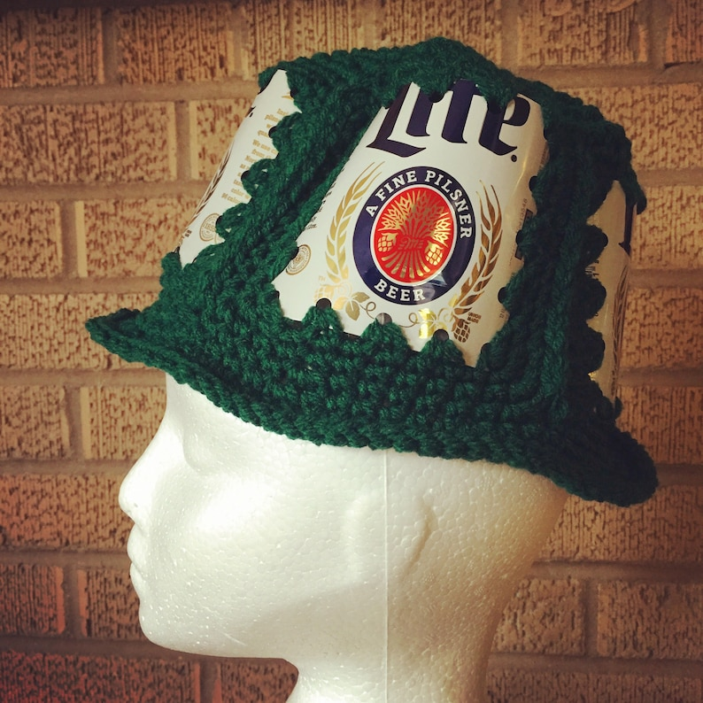 9502d953463dc Green Miller Lite beer can hat Free priority shipping. Go