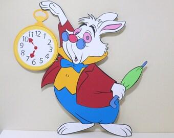 Alice in Wonderland White Rabbit with Watch - Foam Core