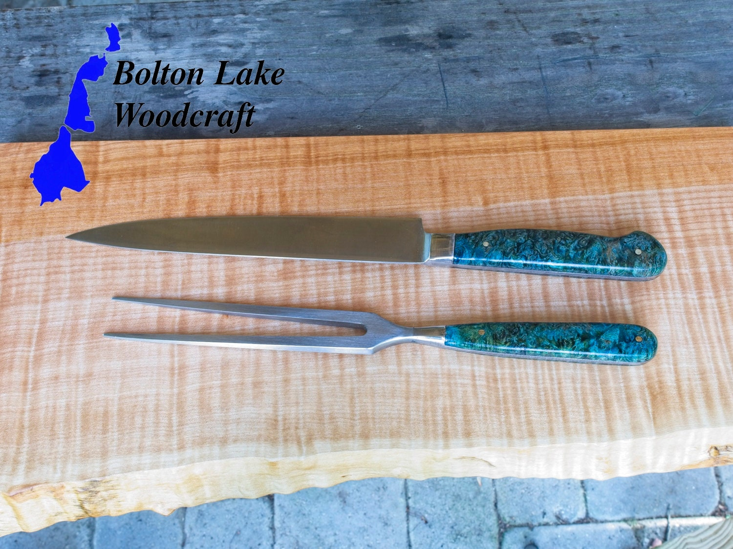 Pcs high grade carving knives with maple handle sharp steel ebay