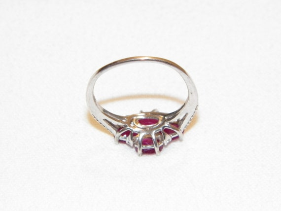 Size 9.25 Vintage Ruby Ring, Solid 925 Real Ruby … - image 7