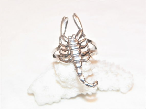 Size 10 Sterling Silver Scorpion Ring, Solid 925 S