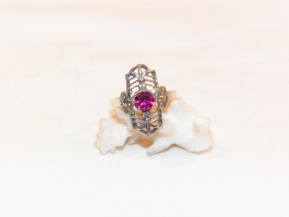 Size 8 Sterling Silver Ruby Ring, Solid 925 Ruby … - image 8