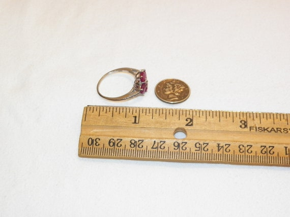 Size 9.25 Vintage Ruby Ring, Solid 925 Real Ruby … - image 6