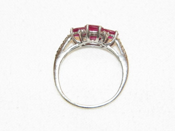 Size 9.25 Vintage Ruby Ring, Solid 925 Real Ruby … - image 9