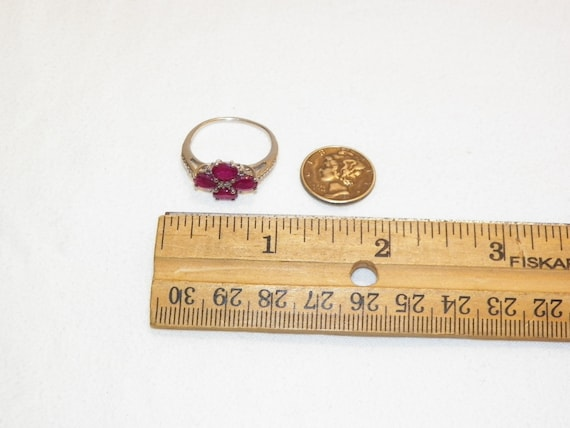 Size 9.25 Vintage Ruby Ring, Solid 925 Real Ruby … - image 5