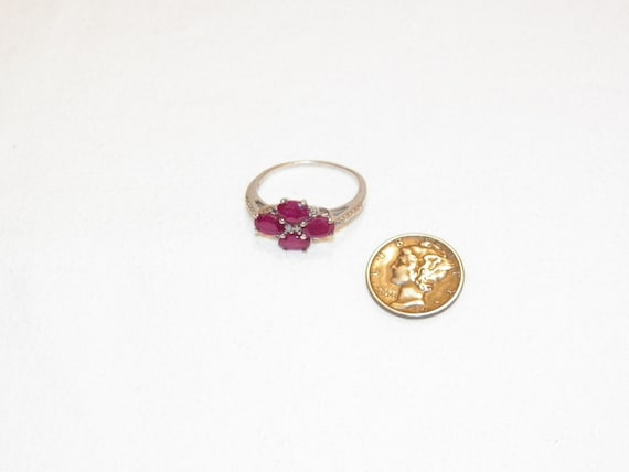 Size 9.25 Vintage Ruby Ring, Solid 925 Real Ruby … - image 8