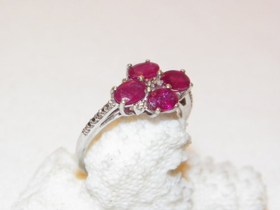 Size 9.25 Vintage Ruby Ring, Solid 925 Real Ruby … - image 1