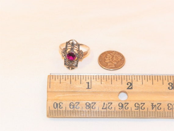 Size 8 Sterling Silver Ruby Ring, Solid 925 Ruby … - image 5