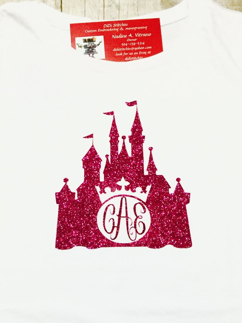 Disney Monogrammed Castle Shirt/Disney Castle Shirt/Custom image 0