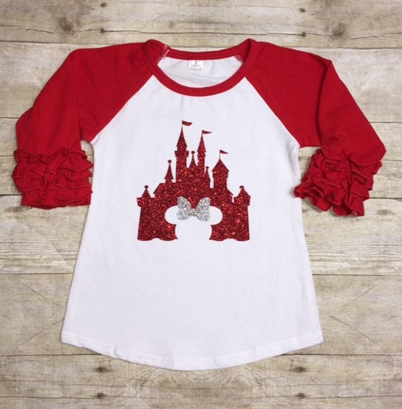 85203015724 Disney Castle Cinderella Castle Glitter Castle Shirt Girls