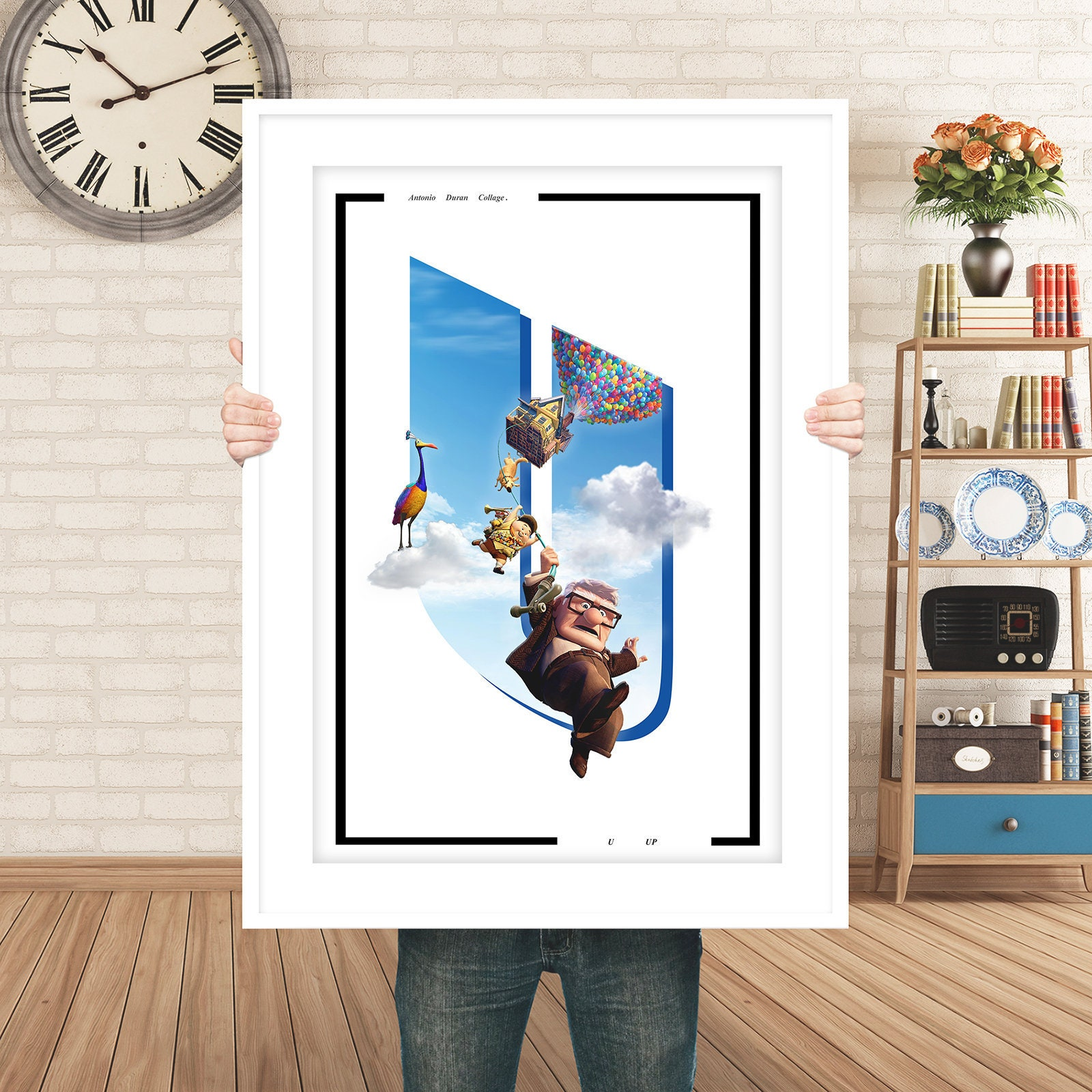 UP Disney Poster Print art, Disney Pixar movie poster film, Download  Alphabet Movies Series Make Your Name.