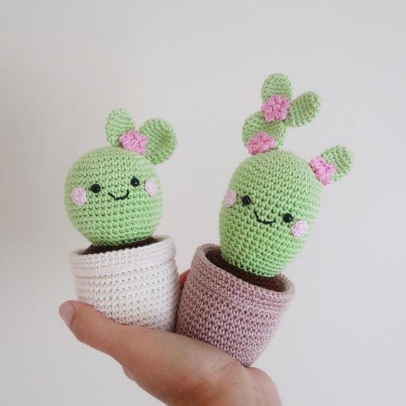 Planta de Cactus de ganchillo personalizados / Amigurumi   Etsy