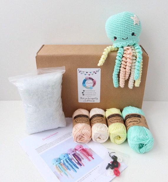 DIY häkeln Kit / häkeln Octopus / Amigurumi Kit / Diy Handwerk   Etsy