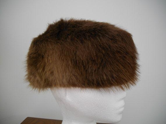 1960's Vintage BEAVER FUR HAT - image 1
