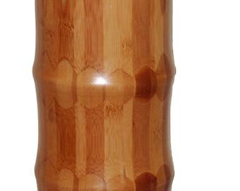 Set of 2 bamboo vase