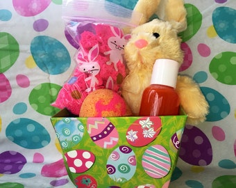 Easter basket bath gift set