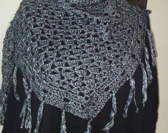 Metallic Gray Neckscarf