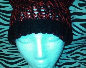 Red & Black Kitty Hat