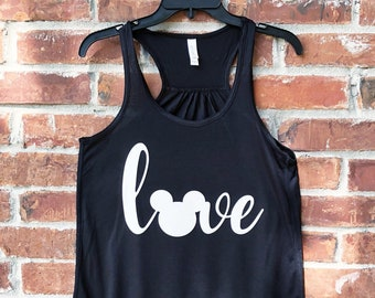 Disney Love, Love Disney, Disney Family Shirts, Disney Tank Top, Disney Tank, Disney Womens Tank Top, Run Disney, Mickey Love
