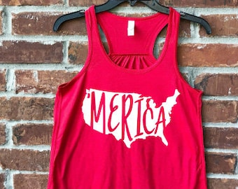 Merica, Merica Tank, Merica Shirt, July 4th, July 4th outfit, Fourth of July, Fourth of July Tank, Memorial Day, Independence Day,
