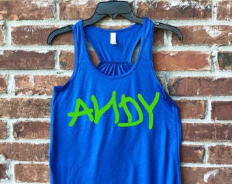 Andy Tank, Andy, Andy Tee, Toy Story, Toy Story Tank, Property of Andy, Women Disney Tank, Womens Toy Story Tank, Andy Toy Story Tank