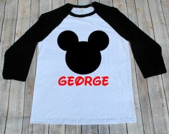 Mickey Raglan, Disney Inspired Adult Shirt, Disney Family Shirts, Mickey Shirt, Raglans, Adult Disney Shirts, Mickey Shirts, Minnie Shirts