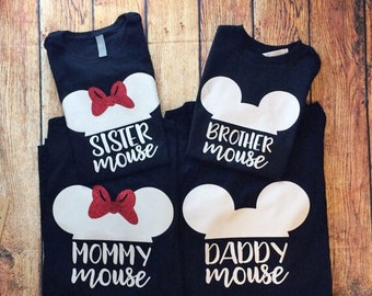 Disney Family Shirts,Disney Shirts Family, Disney Shirts Women, Family Disney Shirts, Mommy Mouse, Daddy Mouse, Sister Mouse, Brother Mouse