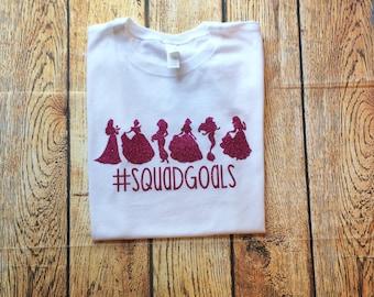 Squad Goals, Disney Princess, Princess Squad, Family Disney Shirts, Disney Family Shirts, Disney Shirt, Disney Trip Shirts, Princess Shirt